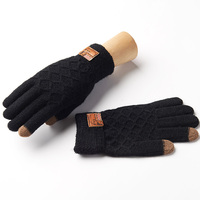 Fashion Autumn And Winter Men S Gloves Wrist Solid 5 Color Knitted Gloves Male Thicken Thermal