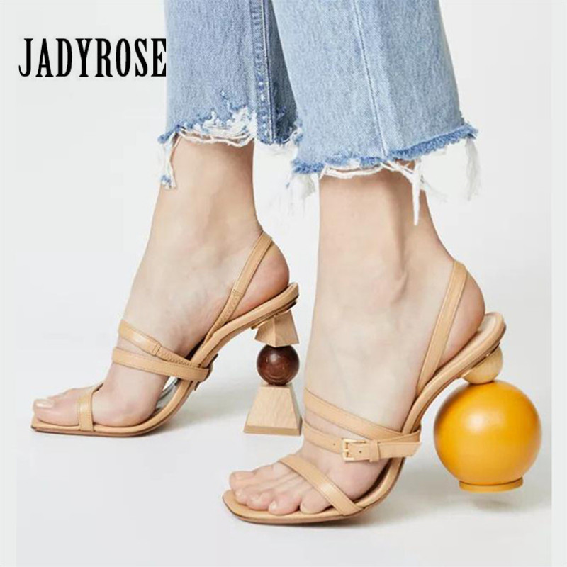 Jady Rose Summer Gladiator Sandals Ankle Strap Women Pumps Strange 10CM High Heels Sandalias Femme Ladies