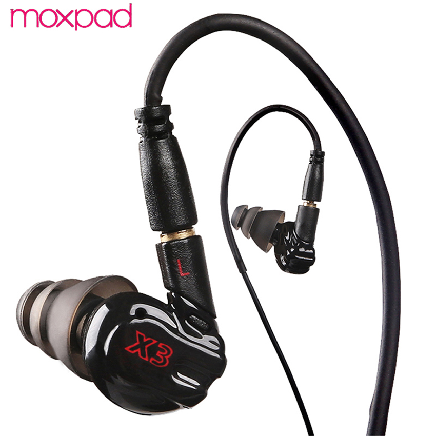 Moxpad X3 Hifi Bass Noise Canceling in Ear buds Headphones Microphone Phones Earphone Headset Earbuds for iPhone Samsung Xiaomi superlux hd 562 omnibearing headphones noise canceling monitoring rotatable