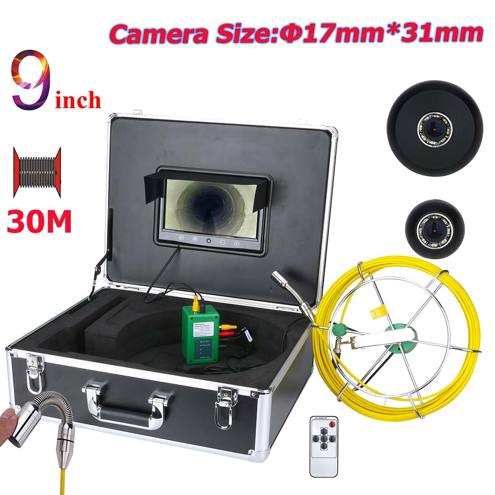 MAOTEWANG 30M Drain Pipe Sewer Inspection Camera System 9 inch 17mm Pipe Sewer Inspection Video Camera  1000 TVL MAOTEWANG 30M Drain Pipe Sewer Inspection Camera System 9 inch 17mm Pipe Sewer Inspection Video Camera  1000 TVL