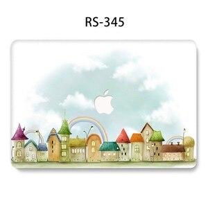 Image 3 - Flor Pintada Laptop Funda para MacBook Air Pro 13 15 12 11 polegada Cheia Tampa Caso Difícil para Macbook Retina polegada A1932 A1286 Coque