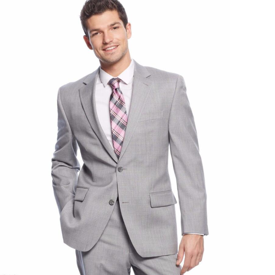 Traje De Novio Custom Made Groom Tuxedos Gray font b Men s b font Wedding Wears