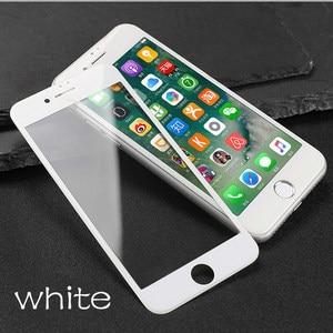 Image 3 - עבור iPhone 8 בתוספת 3D מלא כיסוי מזג זכוכית עבור iPhone 6 6s בתוספת 7 8 מסך מגן שריטות הוכחת קשת קצה זהב זכוכית סרט