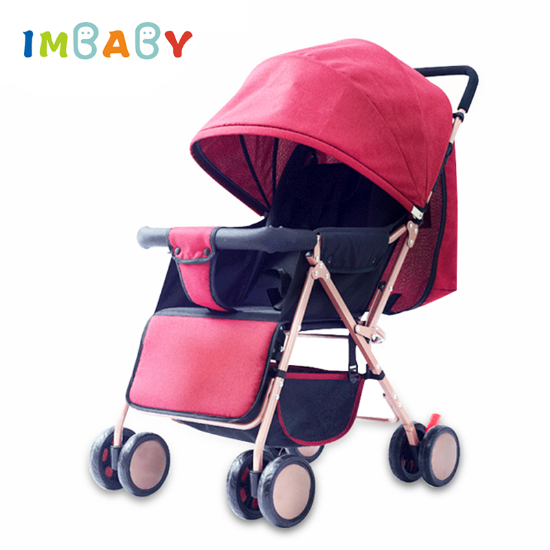 IMBABY Folding Lightweight Baby Stroller For Travel Car Seat Stroller Baby Carriage Baby Prams For Kids Newborns Baby Pushchair baby stroller 3 in 1 high landscape baby carriages for kids with baby car seat prams for newborns pushchair baby car