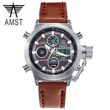 Reloj Hombre 2017 Watches men luxury brand 50m LED Military watches Genuine quartz mens watch Sport
