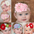 Hot Sale Couture Baby Headband Girls Hair Bow Shabby Big Flower Headband Newborn Baby Hair Accessories 6pcs/lot HB177
