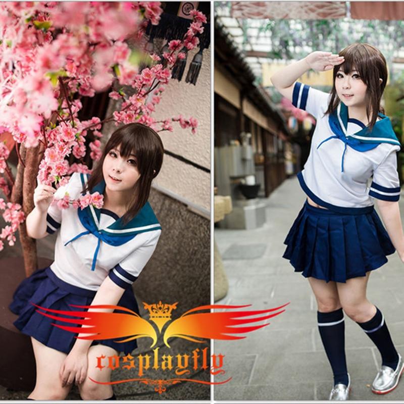 Kantai Collection Kancolle Destroyers Fubuki Cosplay Costume  Sailor dress