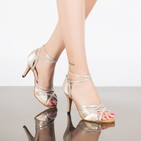 White Style Zapatos De Baile Heel Height 8 5 Cm Size US 4 12 Comfortable Woman