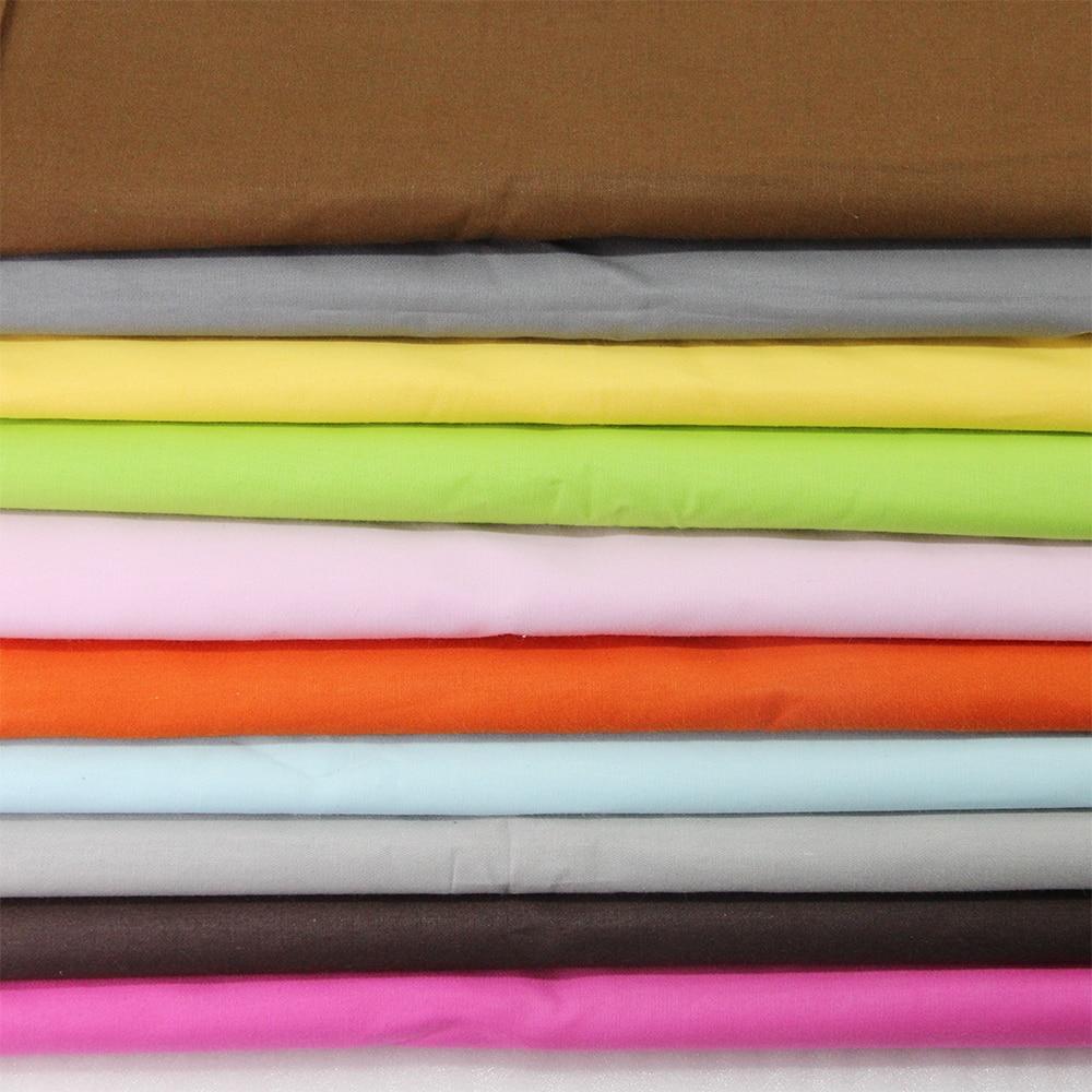 David accessories 50*165 cm color sólido patchwork 100% tela de tejido de algodó