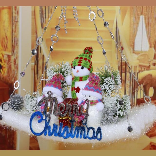 Grüße Frohe Weihnachten.Us 19 99 Hängen Santa Tür Dekoration Gefüllte Weihnachts Puppen Weihnachtsmann Schneemann Rutsche Bord Rentier Frohe Weihnachten Gruß In Hängen