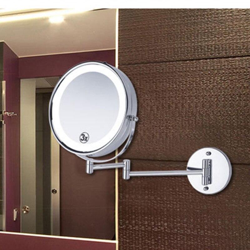 SpringQuan 8.5 inch metalen cosmetische spiegel 2-Face batterij - Huidverzorgingstools - Foto 6