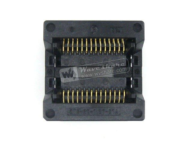 Modules SOP28 SO28 SOIC28 OTS-28-1.27-01A Enplas IC Test Socket Programmer Adapter 8.6mm Body Width 1.27mm Pitch sop20 so20 soic20 ots 20 28 1 27 04 enplas ic test
