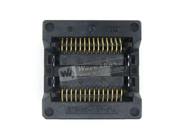 ФОТО Modules SOP28 SO28 SOIC28 OTS-28-1.27-01A Enplas IC Test Socket Programmer Adapter 8.6mm Body Width 1.27mm Pitch