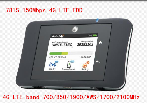 unlocked Sierra Wireless Aircard ac781S 150Mbps 4G LTE Mobile WiFi Hotspot band 5 aws 1900 pk ac782s ac790s