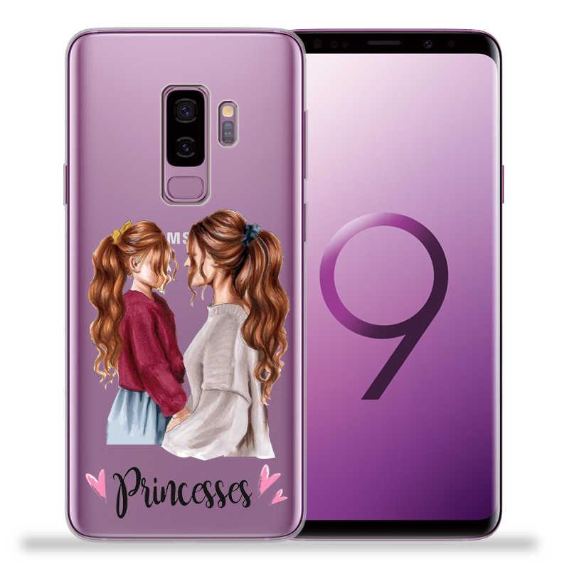 Moda Süper anne Baba Kız Bebek telefon kılıfı Kapak Için Samsung Galaxy S9 S8 S10 Artı S7 S6 Kenar S10 Lite not 8 9 Funda Etui