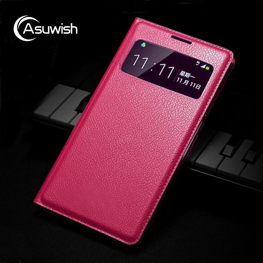 Slim Smart View Shell Auto Sleep Wake Bag Original Leather Case Flip Cover Holster For Samsung Galaxy S4 Mini I9190 I9192 I9195
