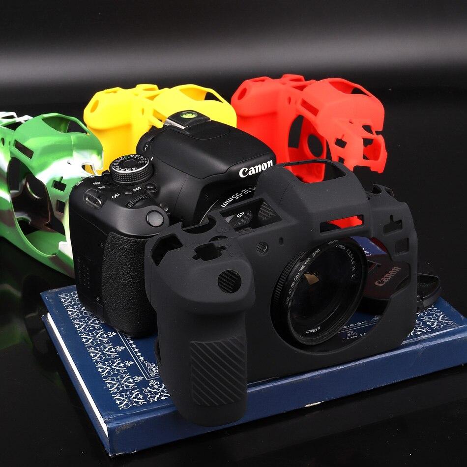 Silicone Armure coque peau Boîtier D'appareil Photo reflex numérique Housse De Protection Sac Pour Canon EOS R M3 M10 M100 M6 5DSR 5D3 6D 5D4 80D 1300D 60D 6D2