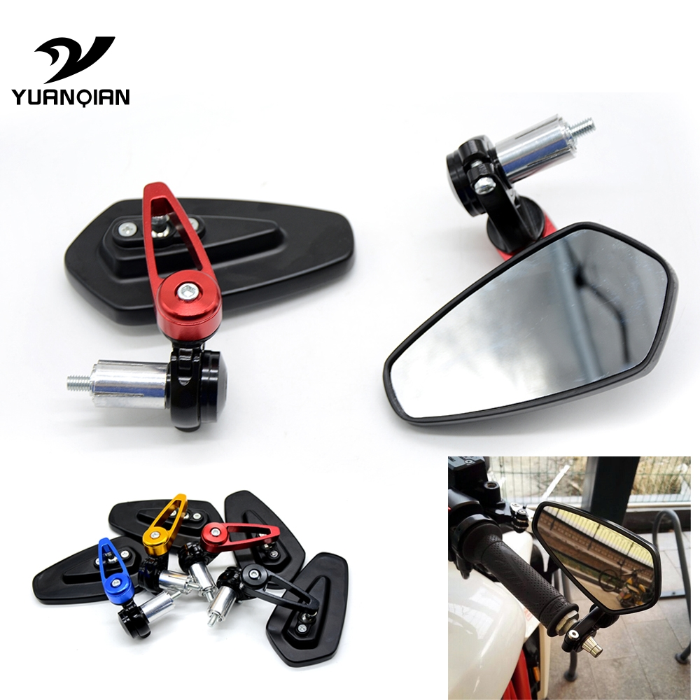 Motorcycle Folding 7/8 77mm handlebar end side rearview mirror For Ducati 1000SS 916 916SPS 996 998 999 B S R Diavel