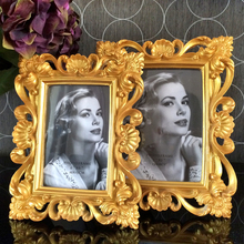 fashion baroque resin photo frame embossed bright gold royal luxury swing photo frame continental american style gold resin luxury photo frame creative fashion like frame wall decoration