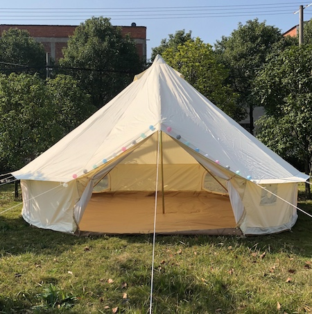 5M Dia rip stop 900D oxford canvas waterproof and fireproof bell tent image