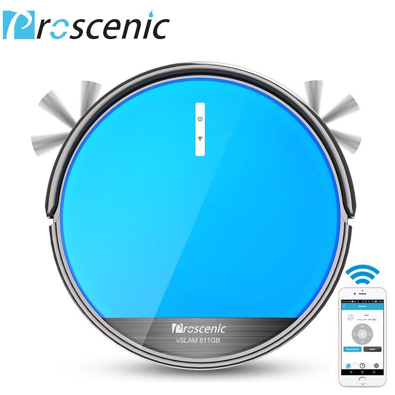 Proscenic 811GB Robotic Vacuum Cleaner Low Noise Slim Design Electric Control Water Tank Robot Aspirador With