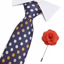 Formal Business Jacquard Polyester Tie For Men Woven Necktie Paisley Gold Blue Black Color 7cm Narrow Skinny Neckwear Cravat