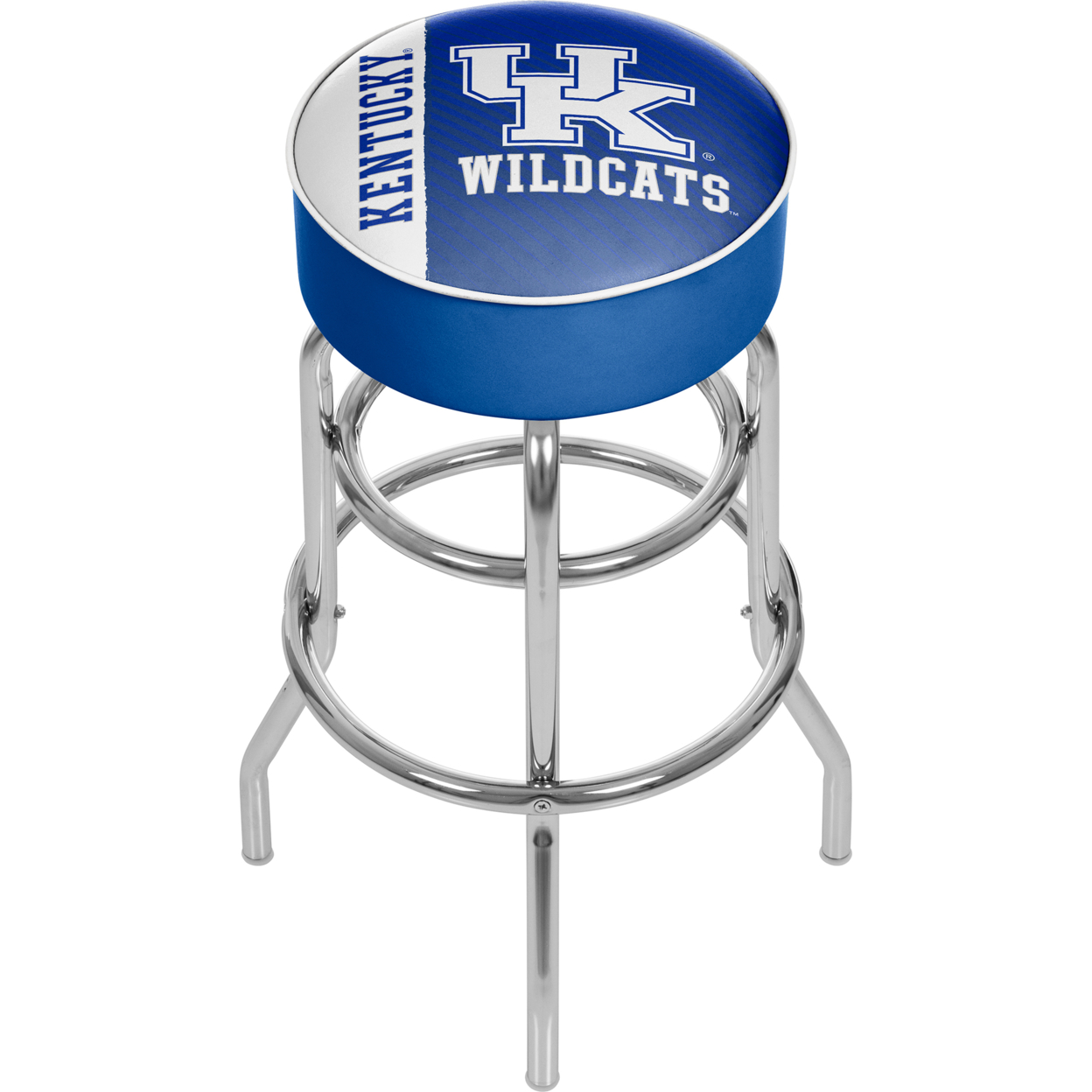 University of Kentucky Text Padded Swivel Bar Stool 30 Inches High