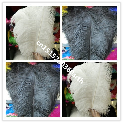 Wholesale 100pcs Quality natural ostrich feather 16 18inch 40 45cm Decorative diy stage performance Clothing accessories