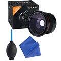 Super hd 0.35x58mm ojo de pez macro lente gran angular + 3in1 lente de kits de limpieza para canon eos 700d 650d 600d 550d1100d