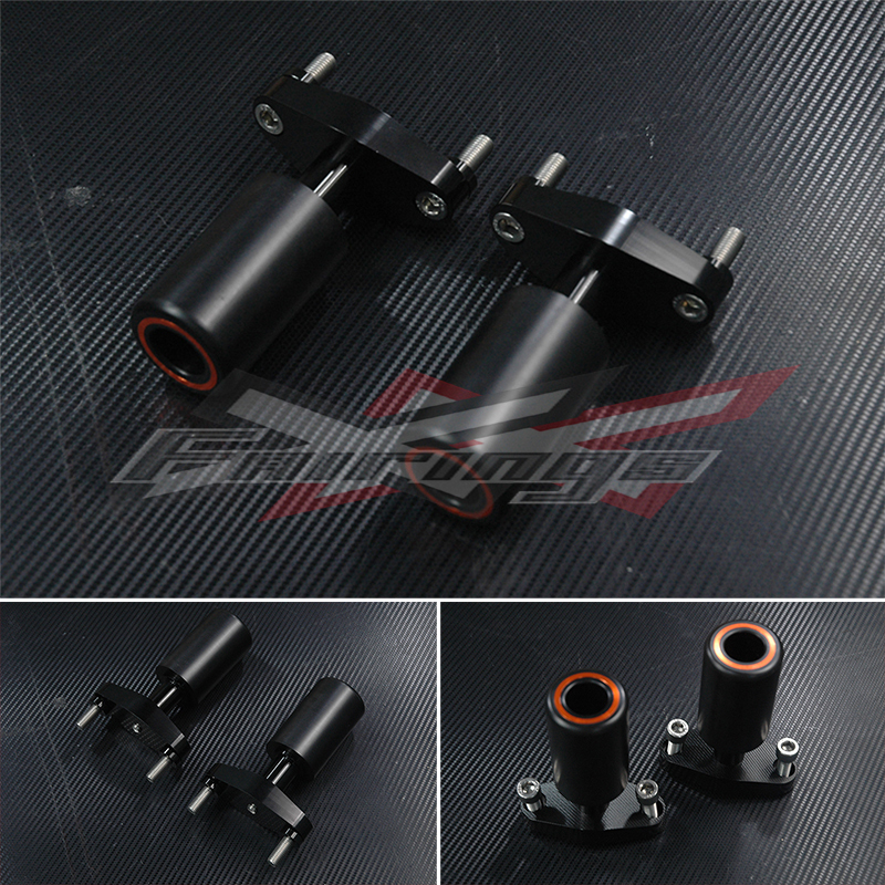 FREE SHIPPING CNC Frame Sliders Protectors Guard For KTM 125 200 390 Duke for ktm 390 duke motorcycle leather pillon passenger rear seat black color