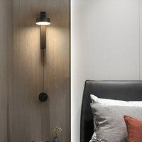 Nordic Новинка вращающийся светодиодный настенный светильник для спальни, металлическая светодиодный настенный светильник гостиная светоди