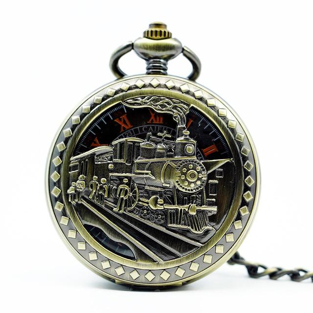 Zug Geschenk Mechanische Us48 Taschenuhr Geschnitzten Luxus Halskette Schlüsselanhänger 0zug Jahrgang In Handaufzug thCQrsdx