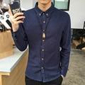 Primavera Nueva Camisa Para Hombre Clásico Del Estilo de China Ropa de Hombre de manga Larga manga Slim Fit Camisas de Los Hombres Camisas Casuales Hombre Alta Calidad 4XL