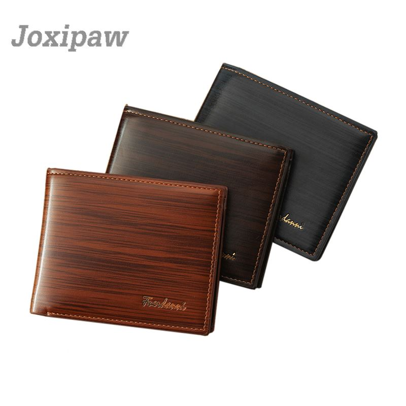 Men Wallet Leather Card Coin Holder 2018 Hot Sale Famous Brand Small Short Fashion Money Pocket Photo Male Purse Portomonee Clip