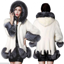 2016 New Winter Ladies Thick Warm Fur Rabbit Fur Outwear Women's Bat Style Long Length Faux Raccoon Dog Fur Coat