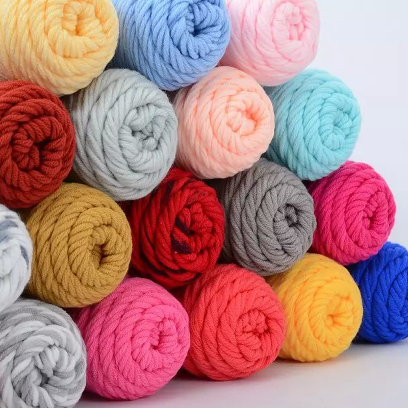 500g/lot 5skeins, Soft Cotton Yarn For Hand Knitting Scarf Hat Sweater Baby Y...
