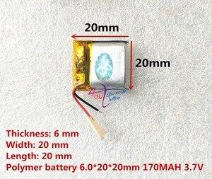 Image 3 - أفضل بطارية ماركة 062020 602020 170MAH 3.7V عالية السعة بطارية ليثيوم بوليمر سمّاعات بلوتوث لعب