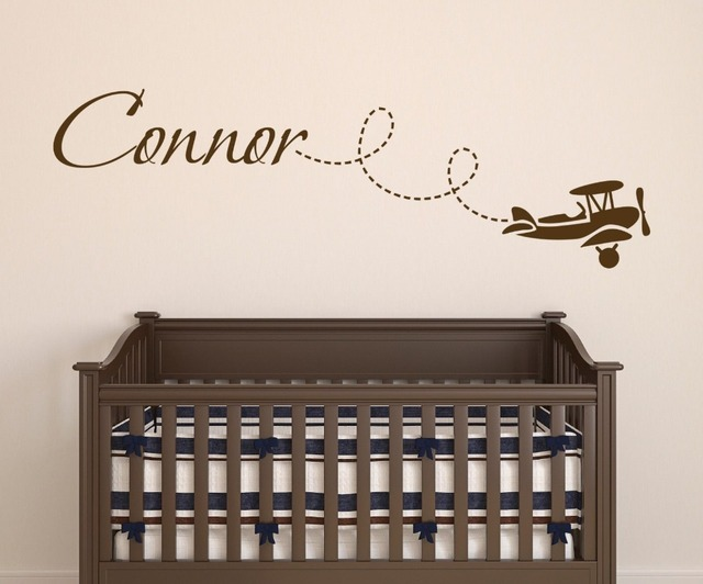 Nursery Wall Decal Ethan with airplanes name decal Custom made airplane wall decals For Kids Room & Nursery Wall Decal Ethan with airplanes name decal Custom made ...