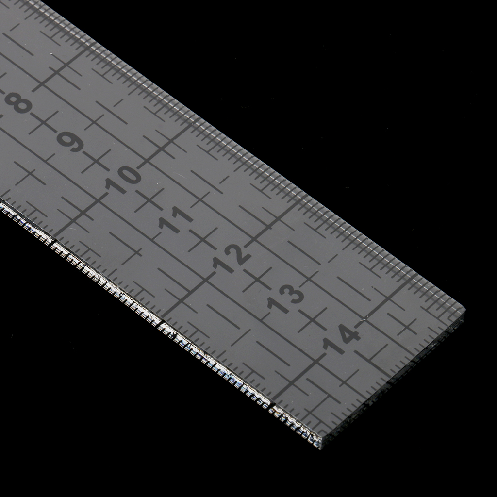 Rectangle Shape Acrylic Quilting Templates Patchwork Sewing Ruler Tool 15cm Black