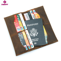 DOLOVE Cow Leather Passport Cover Travel Wallet Document Passport Organizer Cover On The Passport Men Business