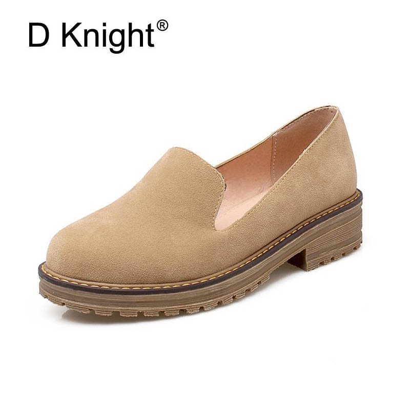 Fashion Round Toe Slip-on Women Casual Loafers Vintage Flock Shlallow Mouth Women Flat Shoes Size 34-43 Ladies Flats Shoes Woman women flats slip on casual shoes 2017 summer fashion new comfortable flock pointed toe flat shoes woman work loafers plus size
