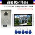 7-дюймовый монитор корпус из алюминиевого сплава камера RFID брелок пароль разблокировка видео домофон дверной звонок Дверной телефон водоне...