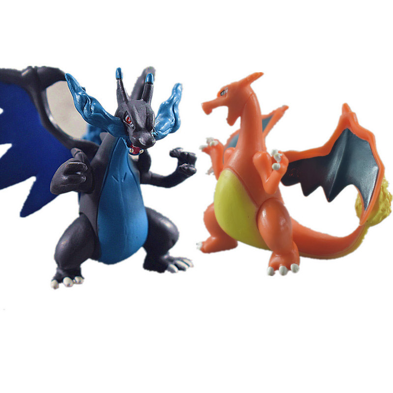 6-8cm Cartoon Charizard Aggron Mewtwo Dragonite Ivysaur Venusaur Charmeleon Pikachued Big Size Pokemoned Figures Figure ToysK100