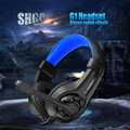 New G1 Jogo Cercado Som Estéreo fone de Ouvido Over-Ear Headphone Gaming Headband fone de ouvido com Microfone Controle de Volume para Computador PC Gamer