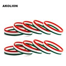 Bracelet Hungary Silicone Flag Sports-Bangle Women Wristband Rubber for 1pcs FB-0012