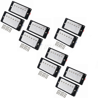 5set Upgrade Guitar Humbucker Pickup For Gibson Guitar Replacement Chrome Plated