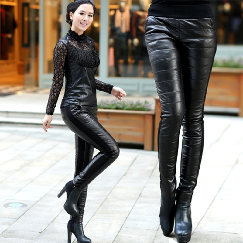 Leather pant boots