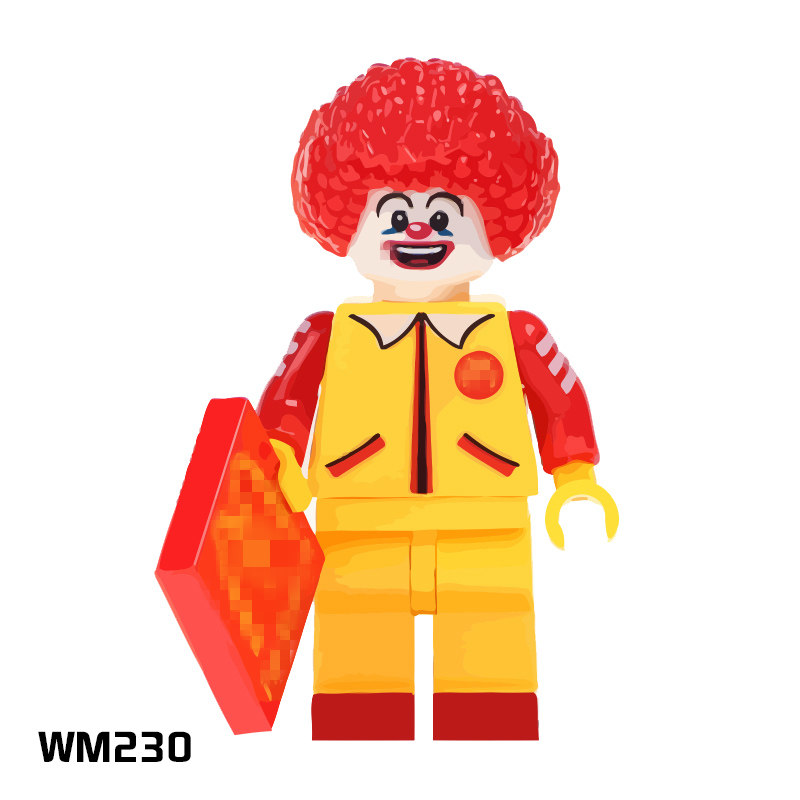 Blocks 2019 Fashion Tmgt Wm230a Ronald Red Round Hair 20pcs/lot Super Heroes Building Blocks Action Figures Kids Gifts Toys Drop Shipping