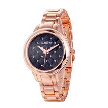 Relogio Feminino Luxury Women's Ladies Watches Crystal Stainless Steel Analog Quartz Wrist Watch Bracelet Girls Dress Clock