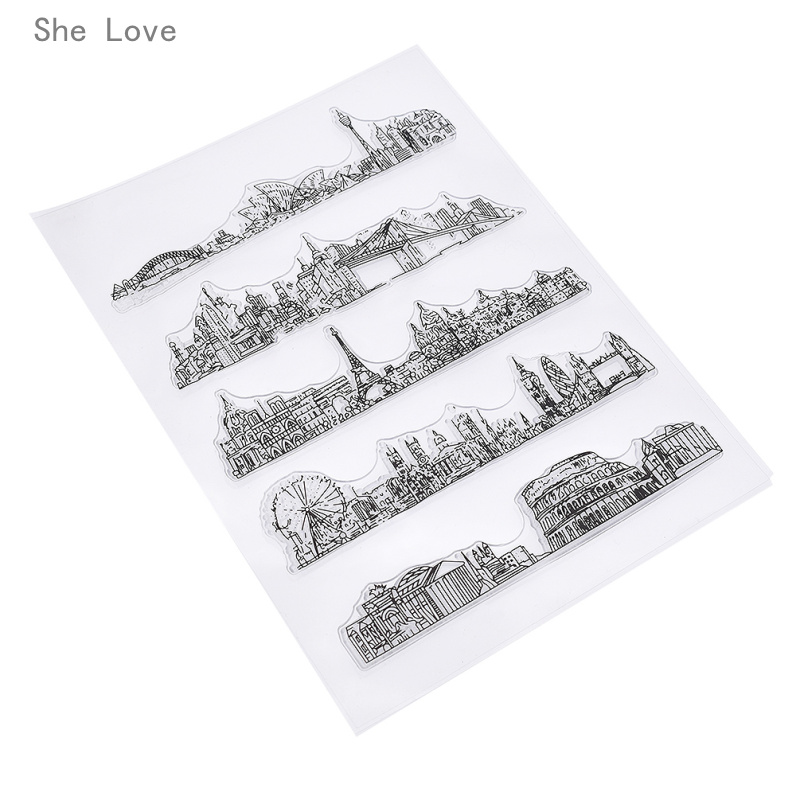 She Love Tourist Spot Silicone Clear Stamp For Scrapbooking DIY Album Cards Making Decoration Transparent Rubber Stamp